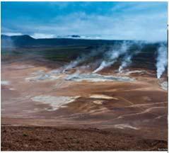 Выход гидротермальной оболочки на поверхность земли