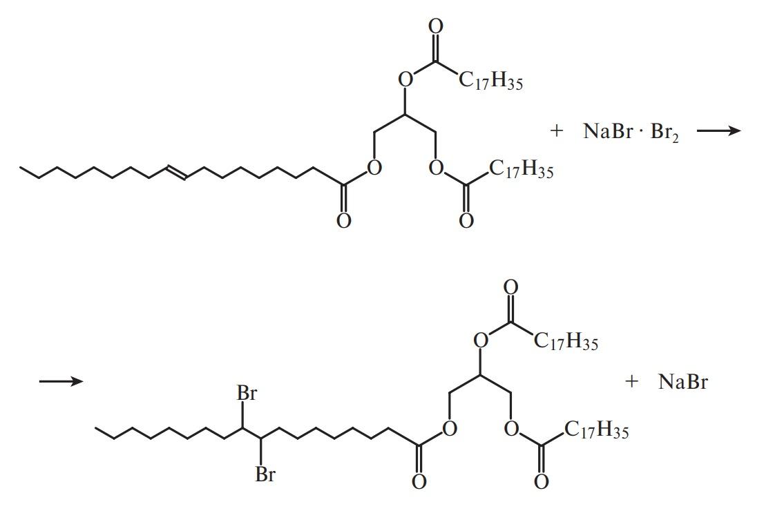 бром реагирует с ненасыщенными глицеридами