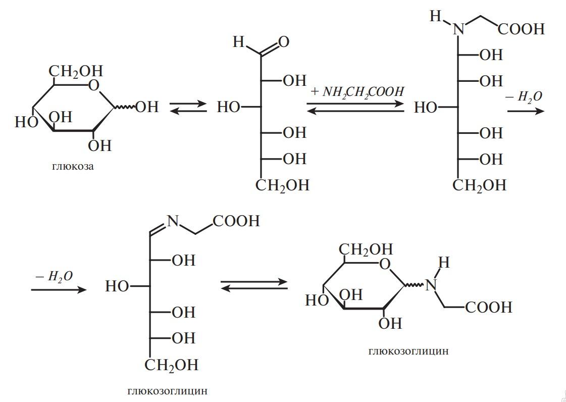 Образование глюкозоамина — начальная стадия реакции Майяра