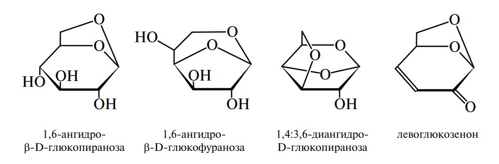 Продукты термической деградации D-глюкозы или полимеров, содержащих D-глюкозу