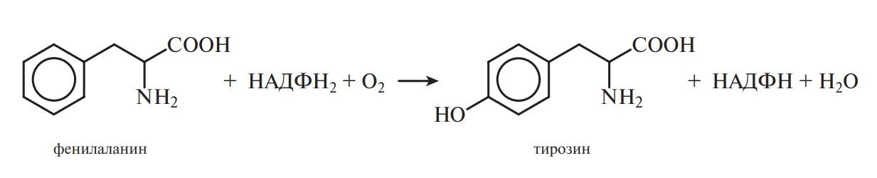 реакция синтеза тирозина