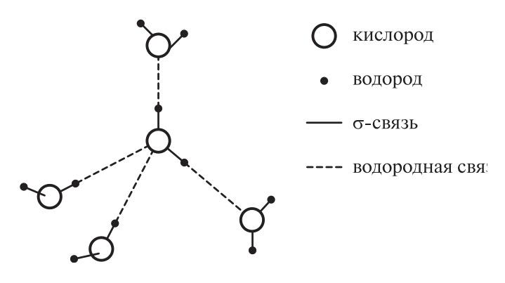 Тетраэдрическая координация молекул воды
