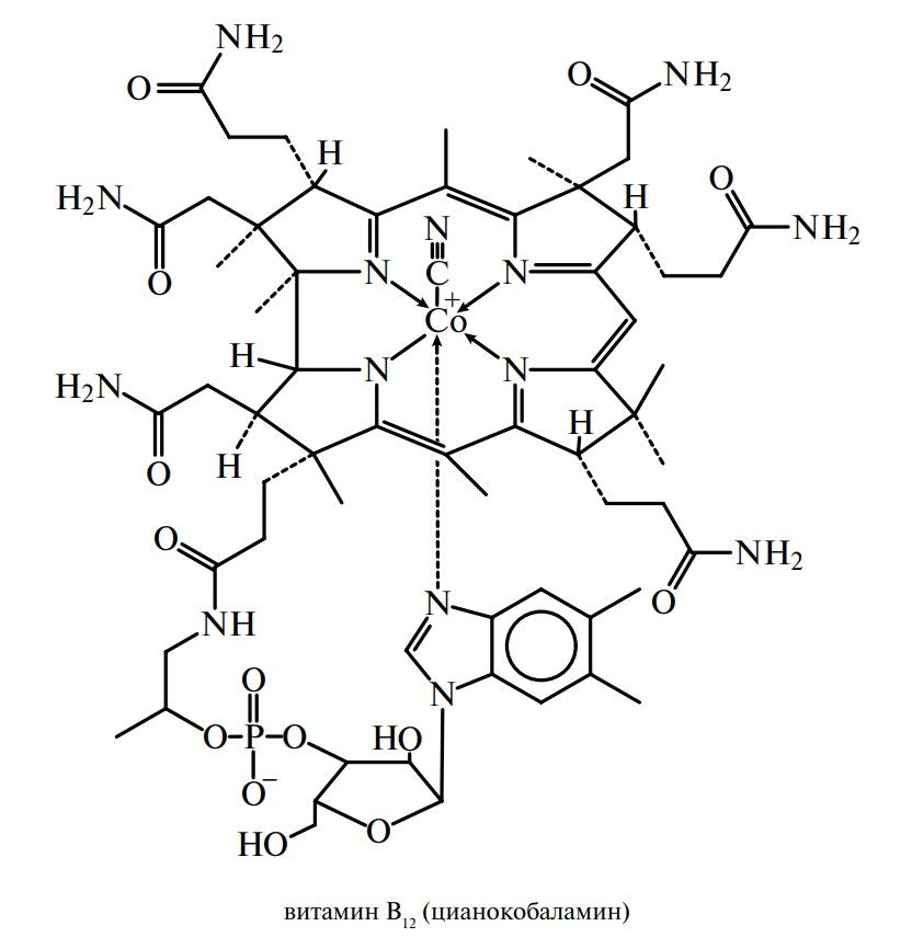 Витамин В12 (цианокобаламин, оксикобаламин, антианемический витамин)