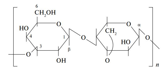Схема строения молекулы агара