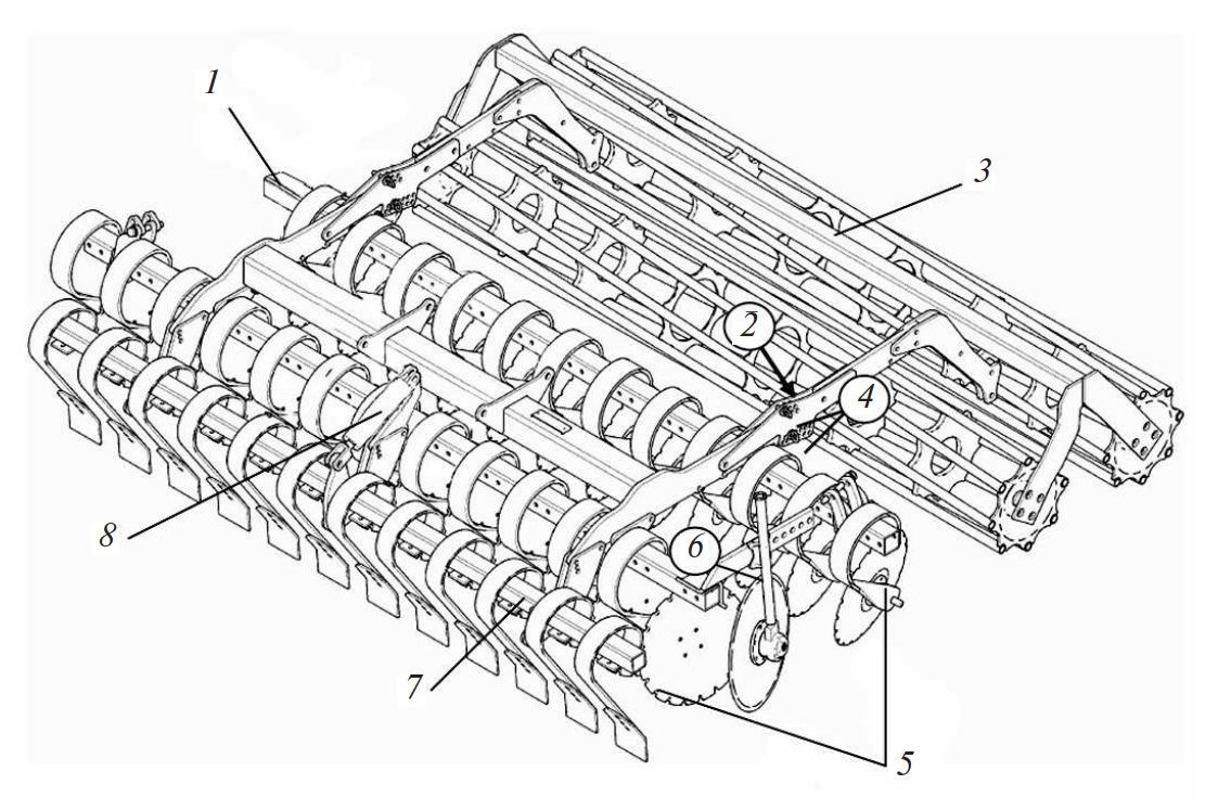 Левая секция агрегата дискового почвообрабатывающего Lemken Heliodor