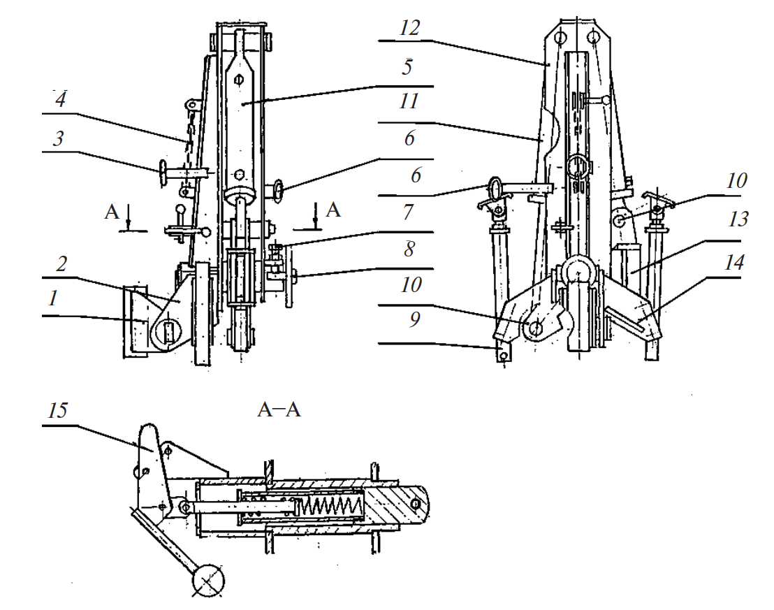 Механизм оборота рамы