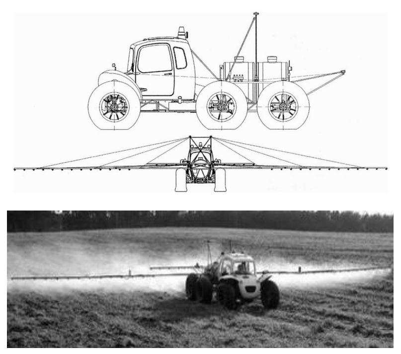 Работа комплекса «РОСА» при подкормках и внесении средств защиты растений