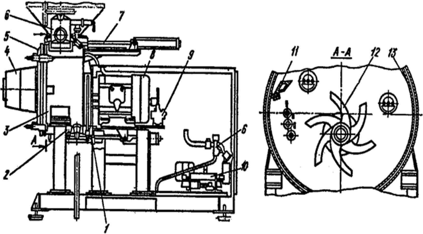 Агрегат для измельчения сыра и плавления сырной массы