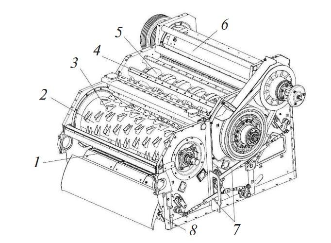 Аппарат молотильный комбайна КЗС-1218