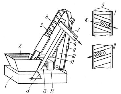 Автоматический бункер с траками для приема, накопления и выдачи заготовок типа колец