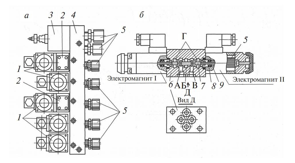 Гидроблок и гидрораспределитель ВЕ6