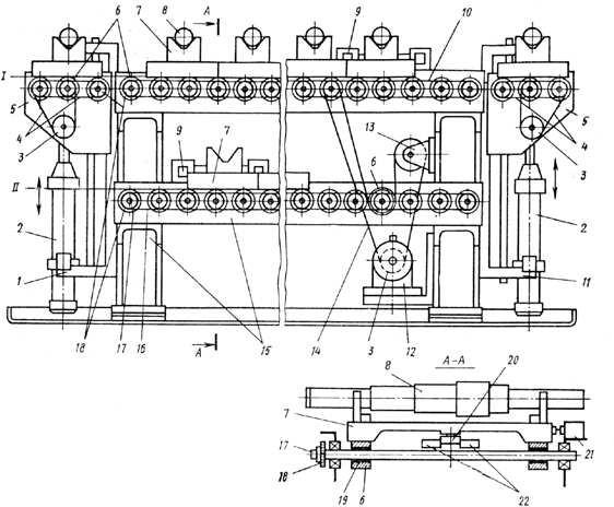 Конвейер для перемещения заготовок (деталей) в ПС