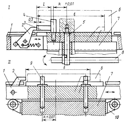 шаговый конвейер с убирающимися собачками для перемещения корпусных заготовок