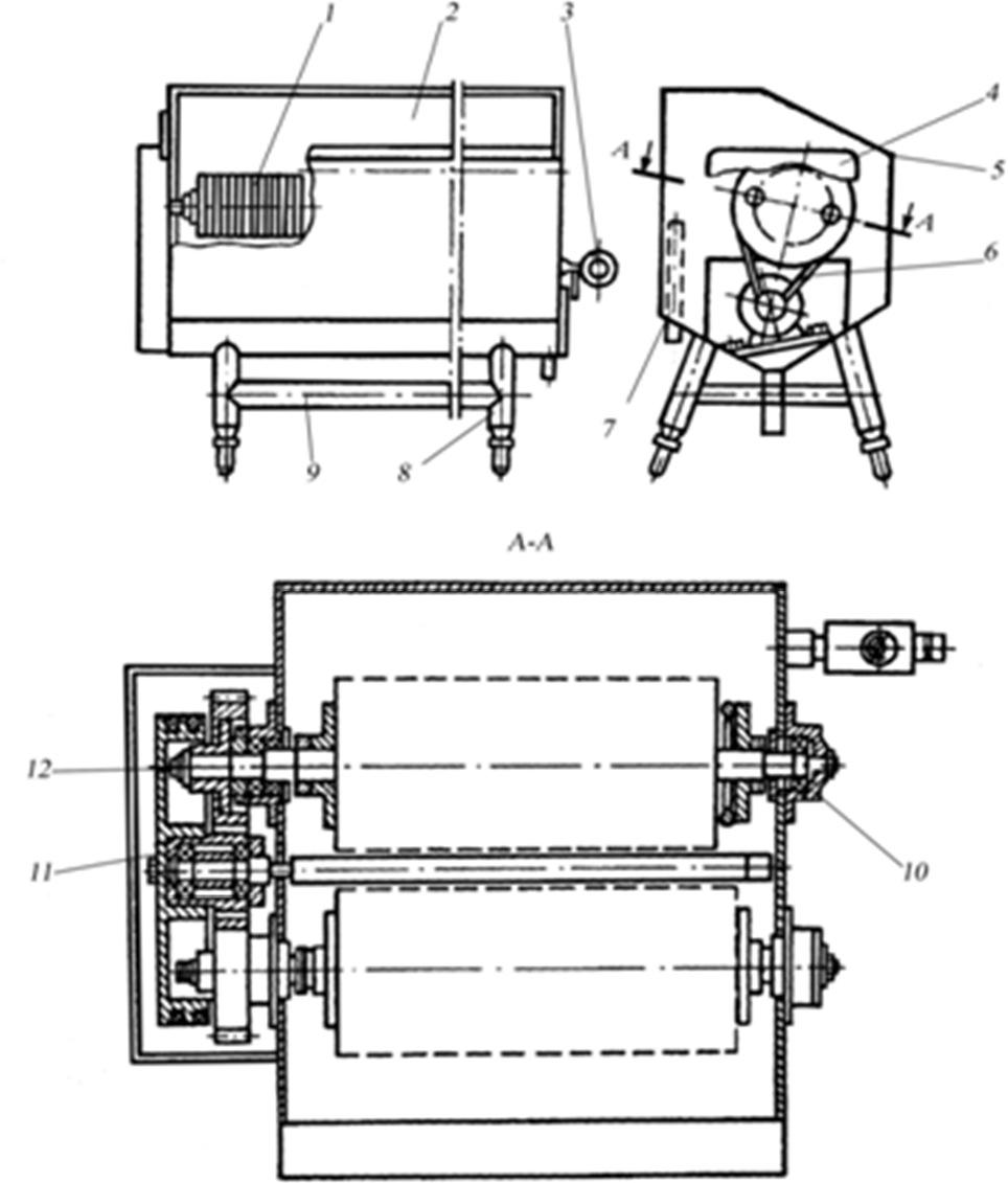 схема Машина для мойки сыра РЗ-МСЩ