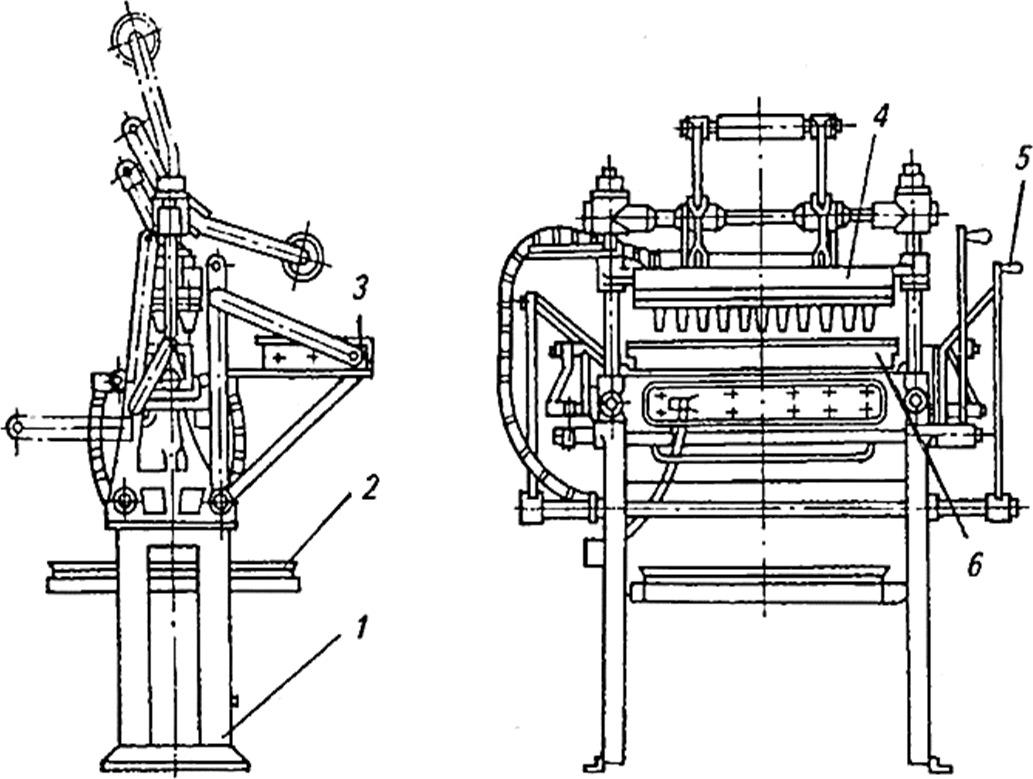 схема Полуавтомат для выпечки вафельных стаканчиков
