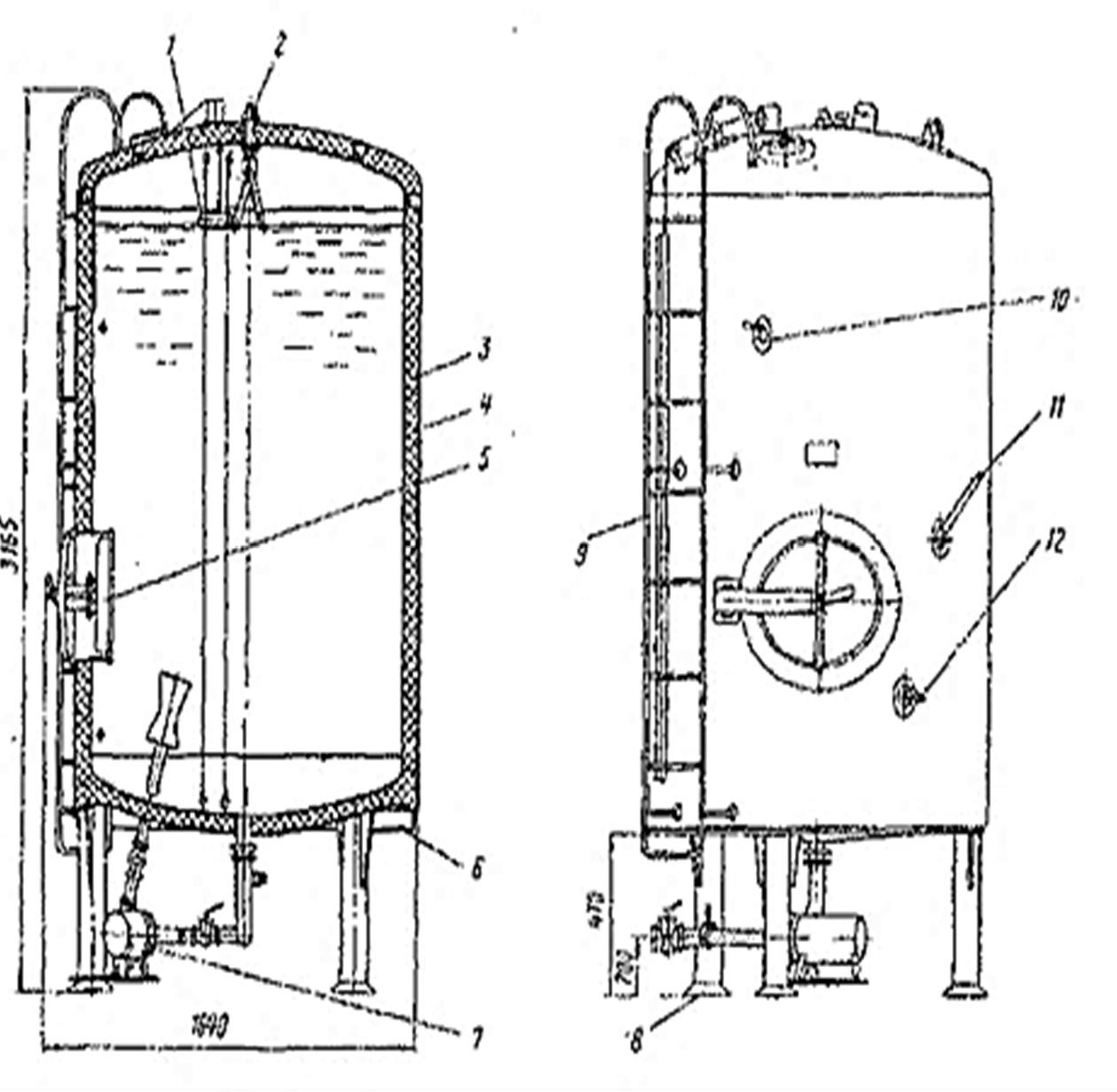 схема резервуара В2-ОМВ-2,5