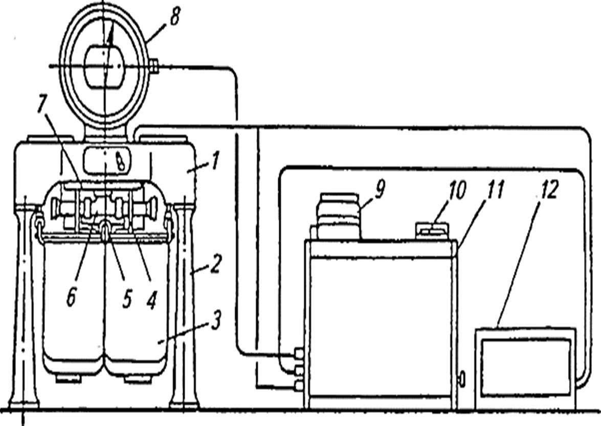 схема Рычажные весы с устройством для автоматического определения массы молока