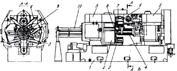 Шестишпиндельный токарный автомат