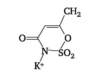 Строение ацесульфама калия
