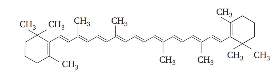 Строение β-каротина