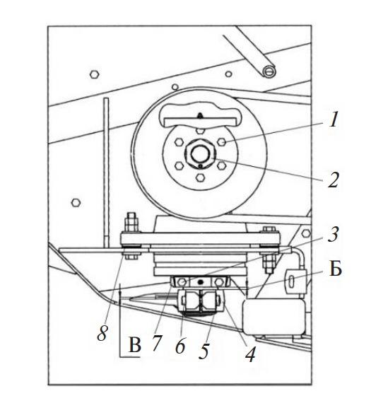 Угловая передача режущего аппарата жатки