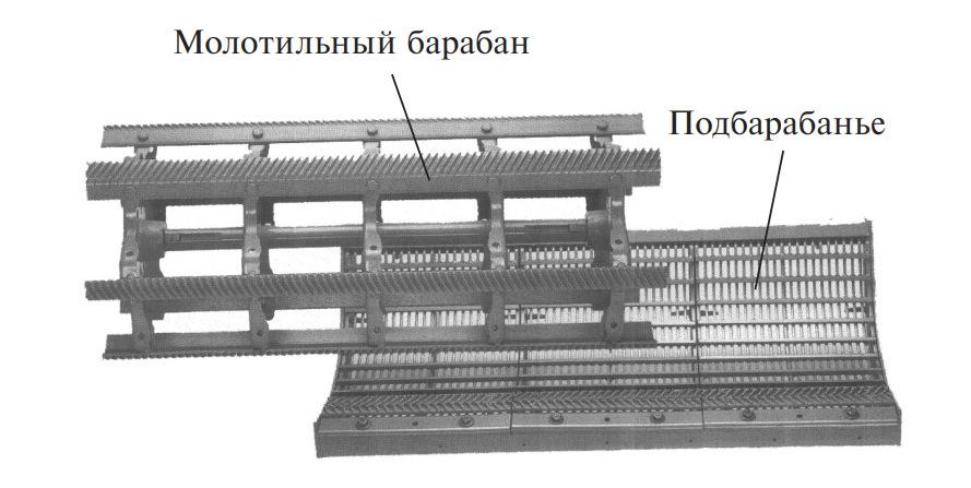 узлы бильного молотильного аппарата