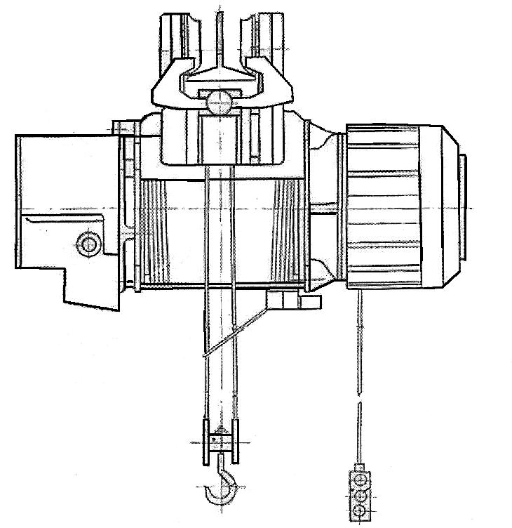 Электрическая таль с фланцевым креплением электродвигателя