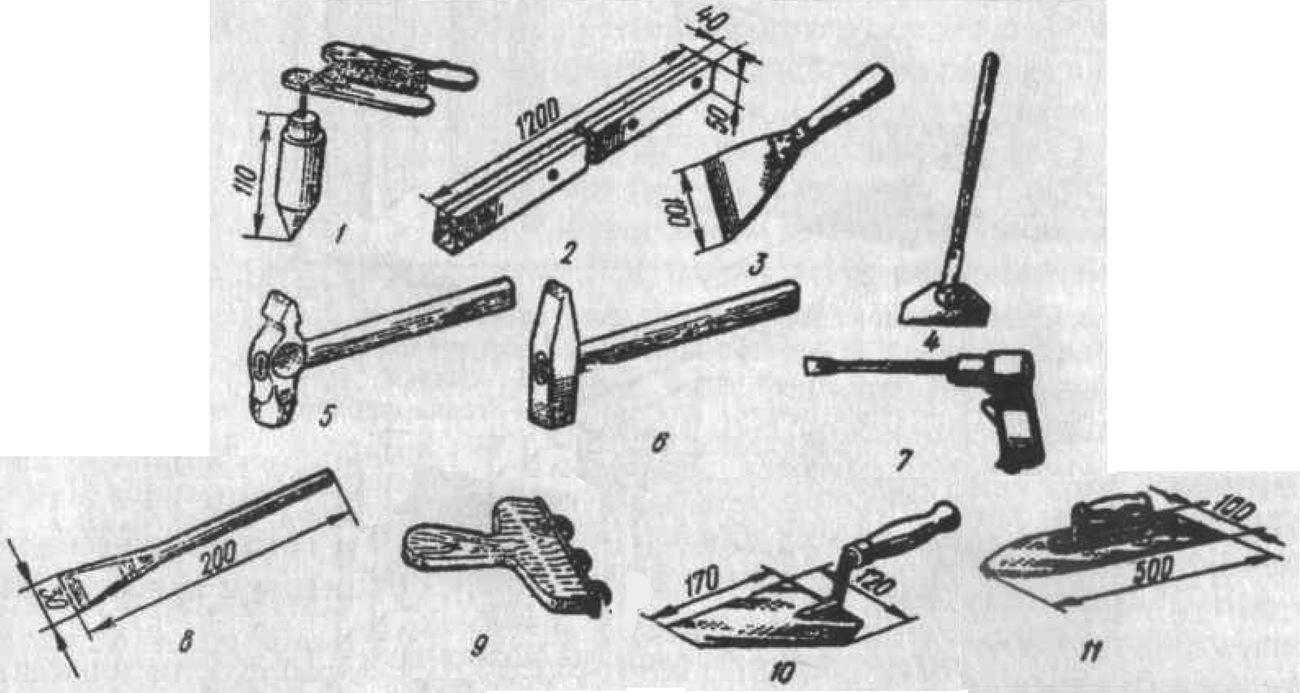 Инструменты облицовщика-плиточника