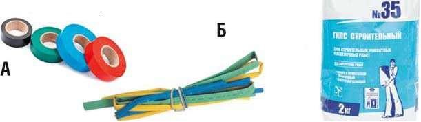 Изоляционная лента и термоусадочная трубка