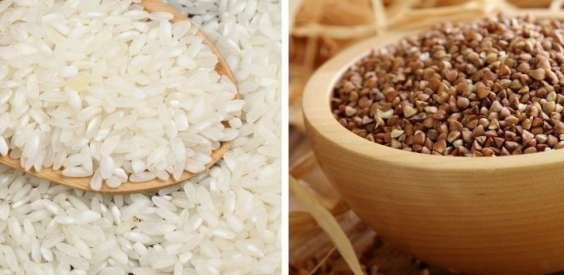 Крупы – рисовая и гречневая
