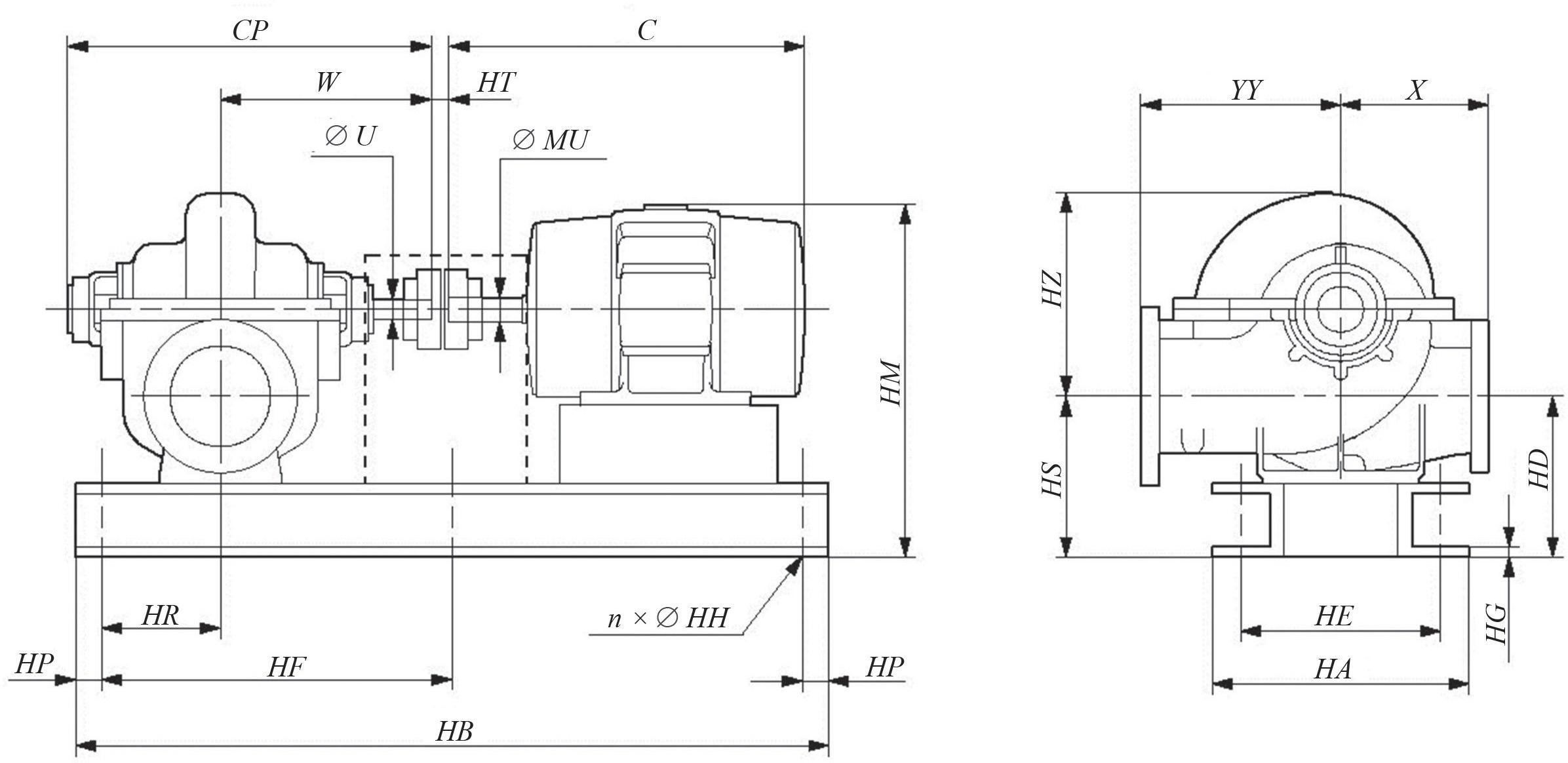 Пример данных для проектирования насосных станций