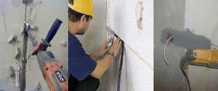 прокладка кабеля проводов