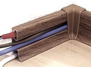 Прокладка кабеля в плинтусе