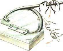 Сгибание трубы с использованием специального приспособления