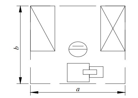Схема организации рабочего места у ленточнопильного станка столярного станка