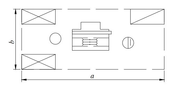 Схема организации рабочего места у многопильного круглопильного станка для продольного раскроя пиломатериалов