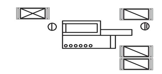 Схема организации рабочих мест у четырехстороннего продольно-фрезерного станка