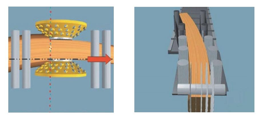 Схема распиловки и фрезерования по технологии ArcoLine