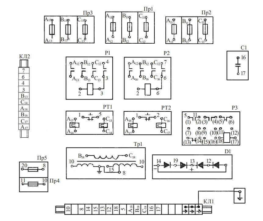 Схема соединений цепи управления