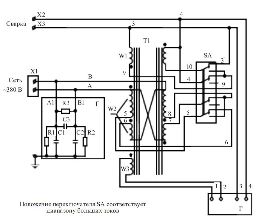 схема трансформатора ТДМ-401 У2
