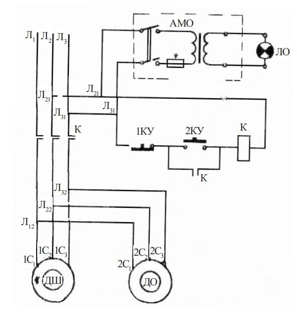 схема вертикально-сверлильного станка 2Б12Б