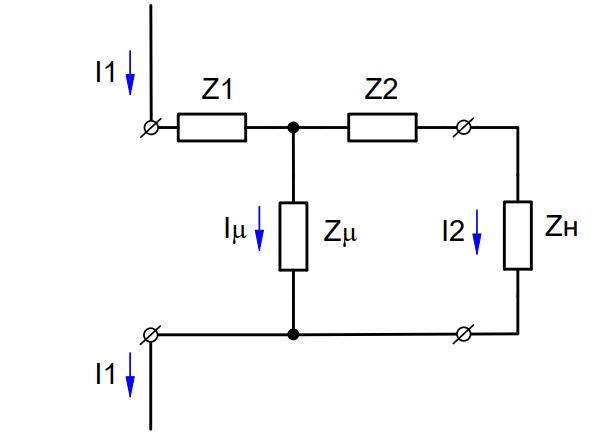 Схема замещения трансформатора тока