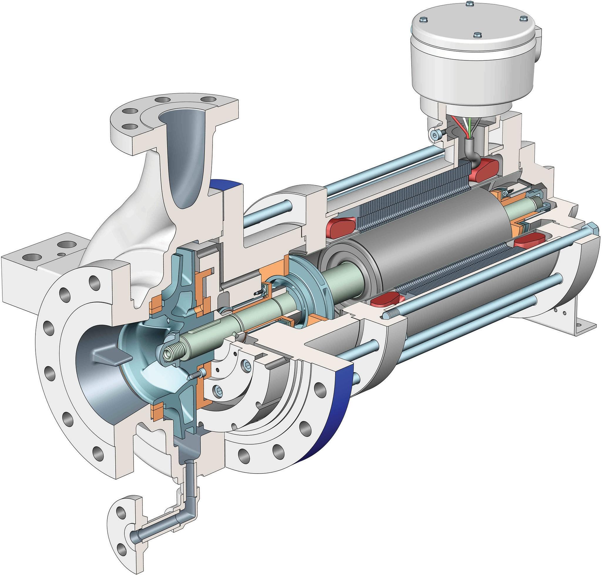 Устройство герметичного центробежного насосного агрегата