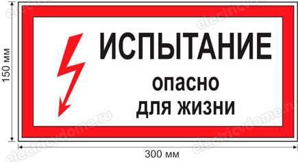 Запрещающий плакат опасно для жизни